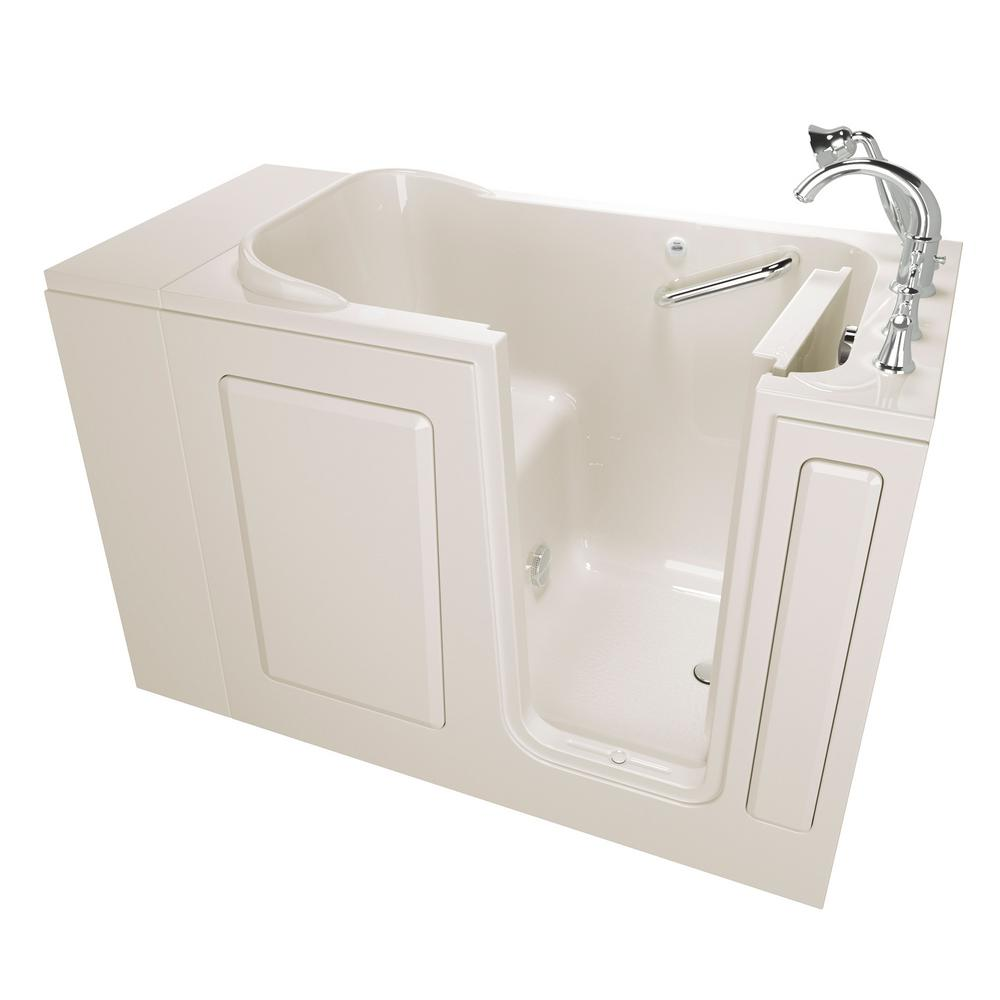 American Standard Exclusive Series 48 in. x 28 in. Right Hand Walk-In Soaking Tub with Quick Drain in Linen