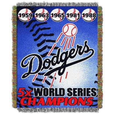 Dodgers Multi Color Commemorative Series Tapestry Throw