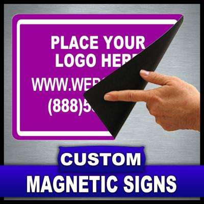 12 in. x 18 in. Custom Magnetic Sign