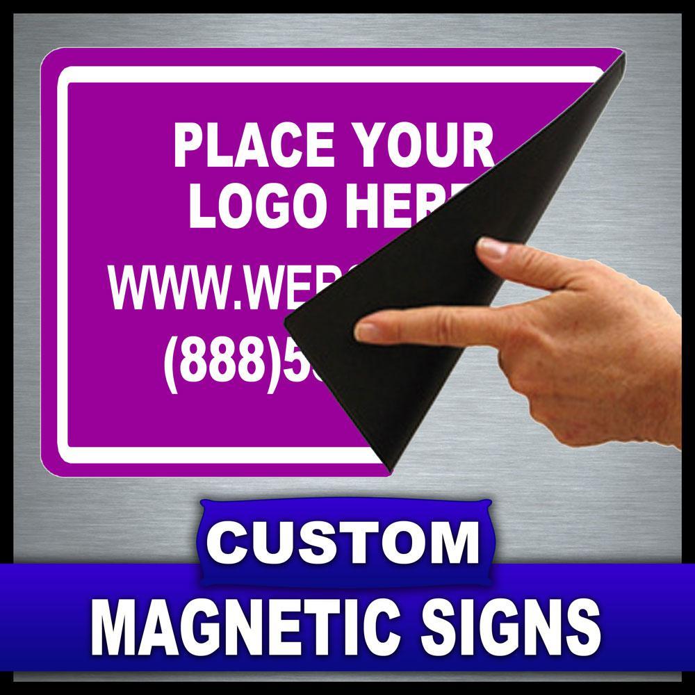 12 in. x 18 in. Custom Magnetic Sign