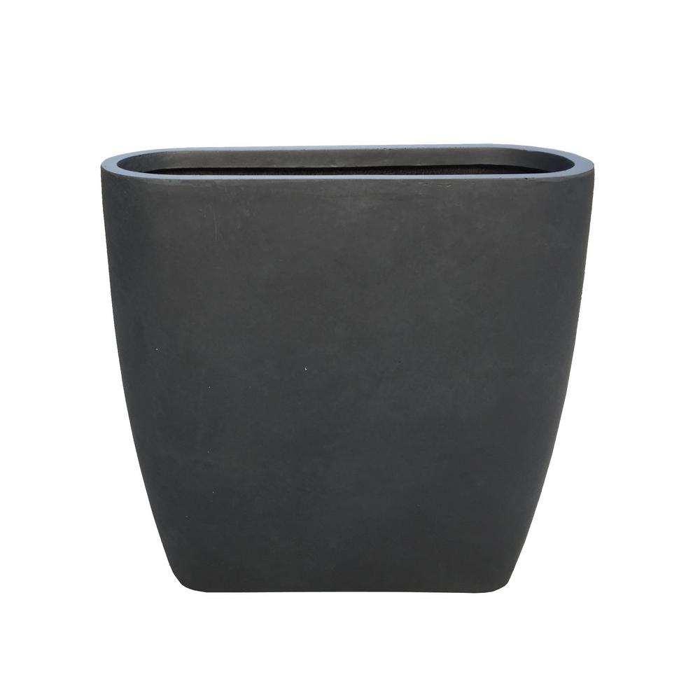 KANTE Large 30.7 in. Tall Charcoal Oval Lightweight Concrete Modern Outdoor Planter, Grey was $199.98 now $111.54 (44.0% off)