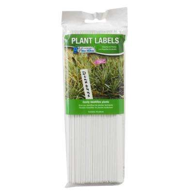 8 in. Bright White Plastic Plant Labels (30-Pack)