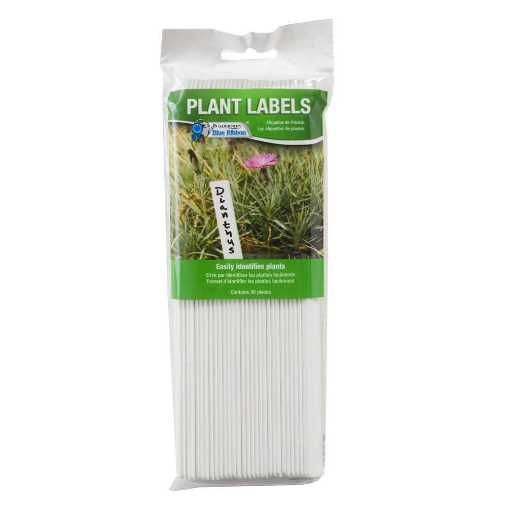 GARDEN COLLECTION White Plastic Plant Labels 10 Piece Per Package
