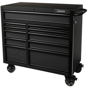 Husky 56 In 10 Drawer Rolling Cabinet Tool Chest In Blue Vrb 5610buhu The Home Depot
