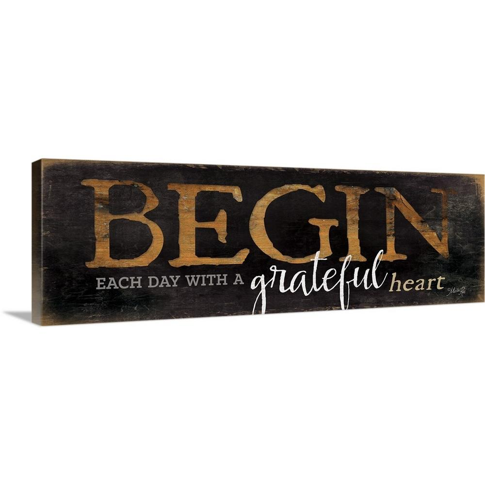 ''Begin Each Day'' by Marla Rae Canvas Wall Art
