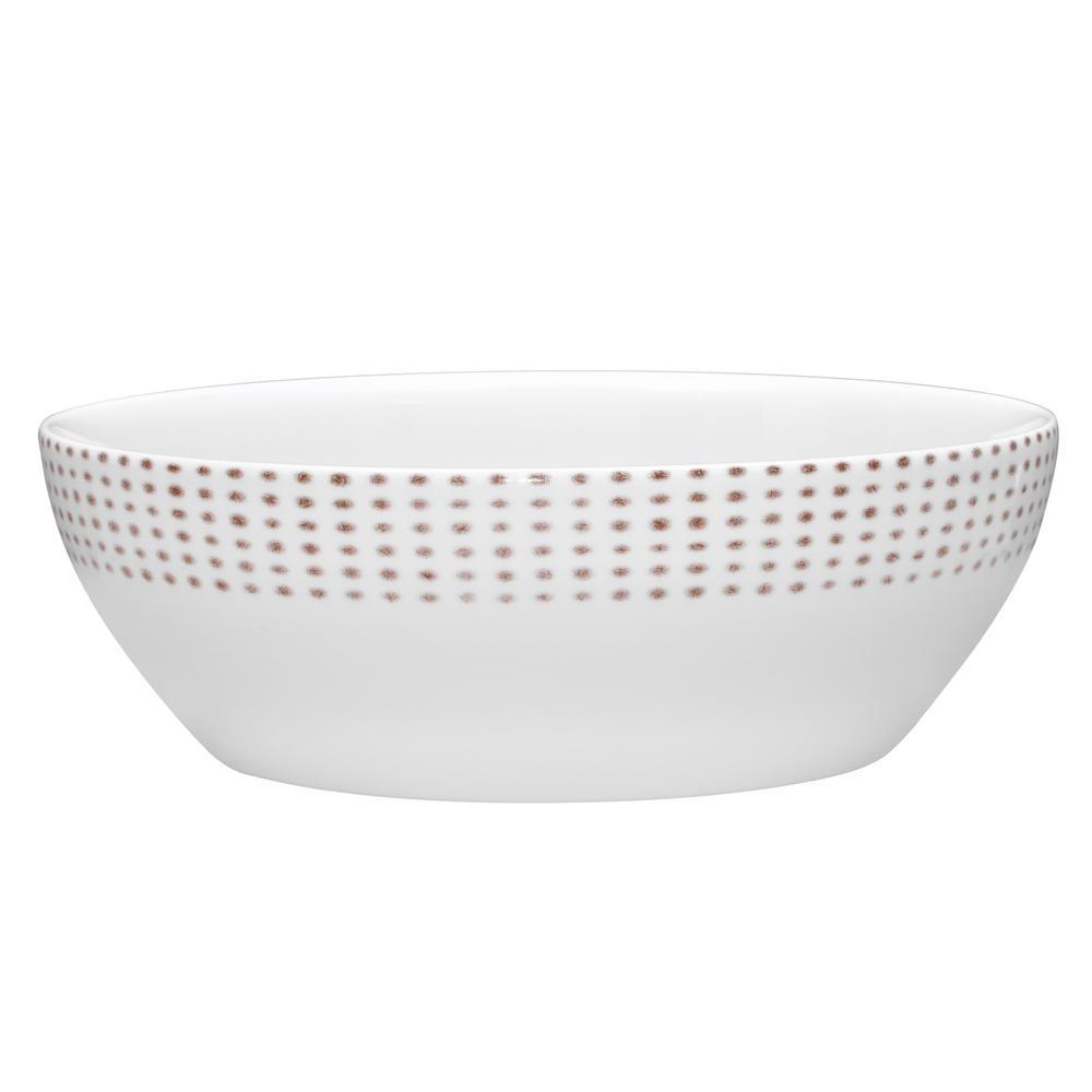 96 oz.Khaki Hammock Round Vegetable Bowl