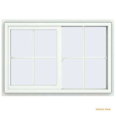home depot sliding windows series universal 355 in 235 v2500 series white vinyl righthanded yes sliding windows the home depot