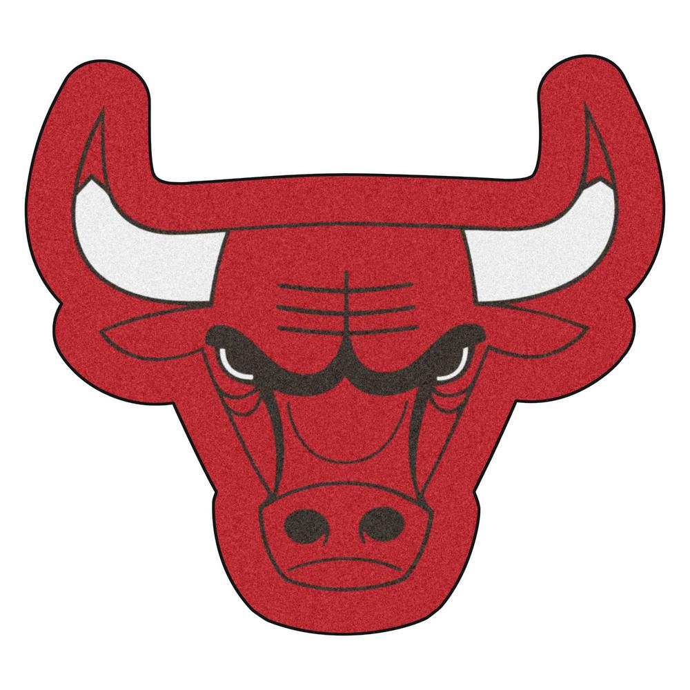 5a00b81d38174 FANMATS NBA - Chicago Bulls Mascot Mat 36 in. x 32.6 in. Indoor Area ...