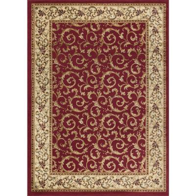 Elegance Red 5 ft. x 7 ft. Indoor Area Rug