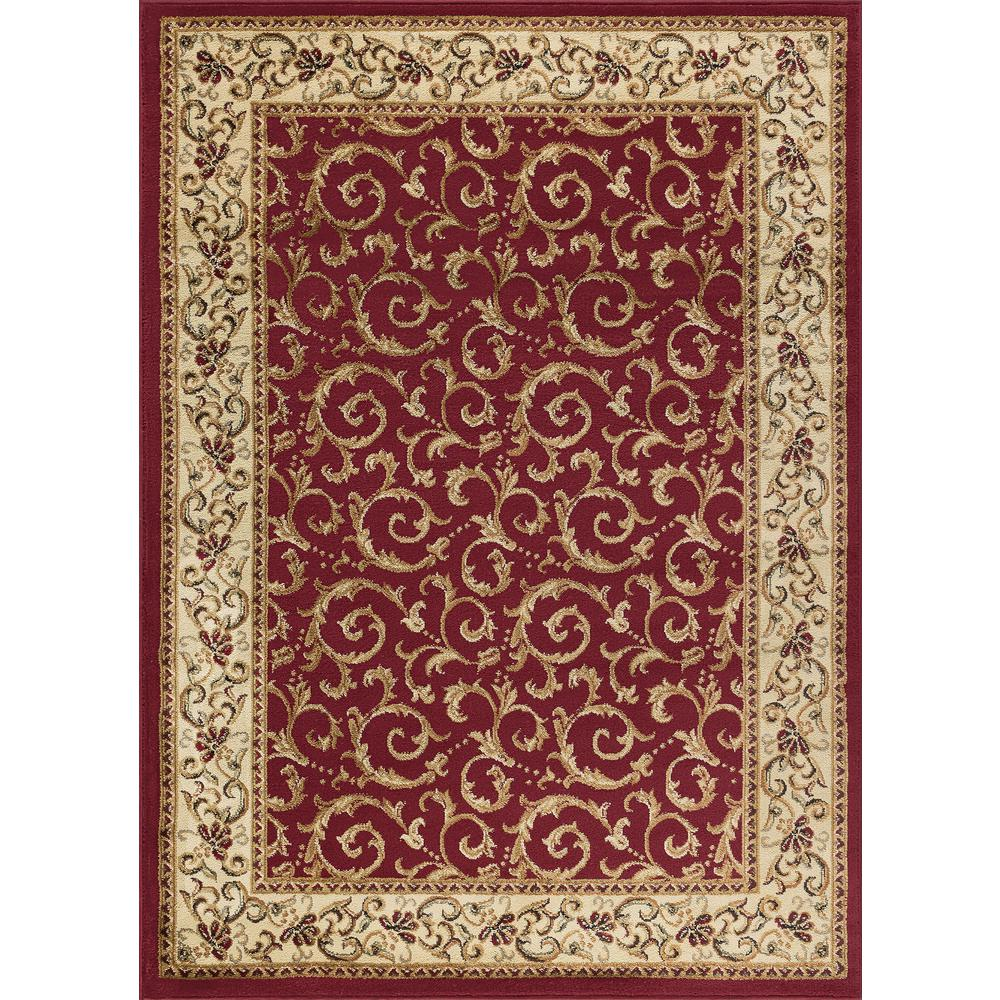Tayse Rugs Elegance Red 8 Ft X 10 Ft Indoor Area Rug