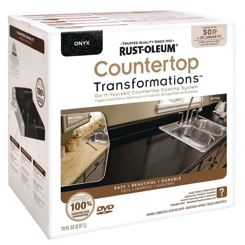 Rust-Oleum Transformations Large Onyx Countertop Kit (Covers 50 sq. ft.)-DISCONTINUED
