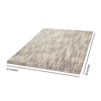 Taylor Reversible Cotton Slub 21 in. x 34 in. Bath Rug in Taupe