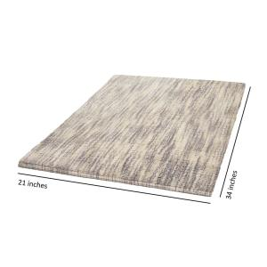 Jean Pierre Taylor Reversible Cotton Slub 21 inch x 34 inch Bath Rug in Taupe by Jean Pierre