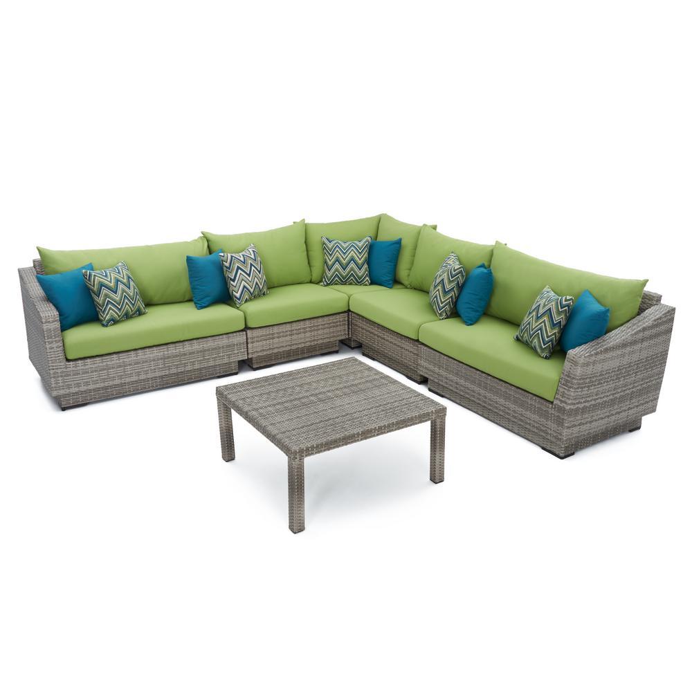 Corner Sectional Set Ginkgo Green Cushions
