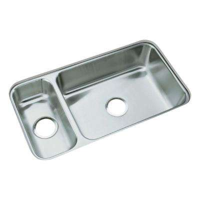McAllister Undermount Stainless Steel 32 in. Double Bowl Kitchen Sink