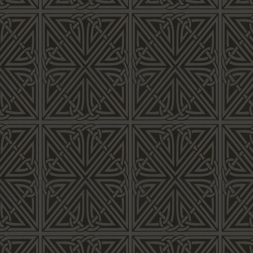 Graham & Brown 56 sq. ft. Viva Black Wallpaper-DISCONTINUED