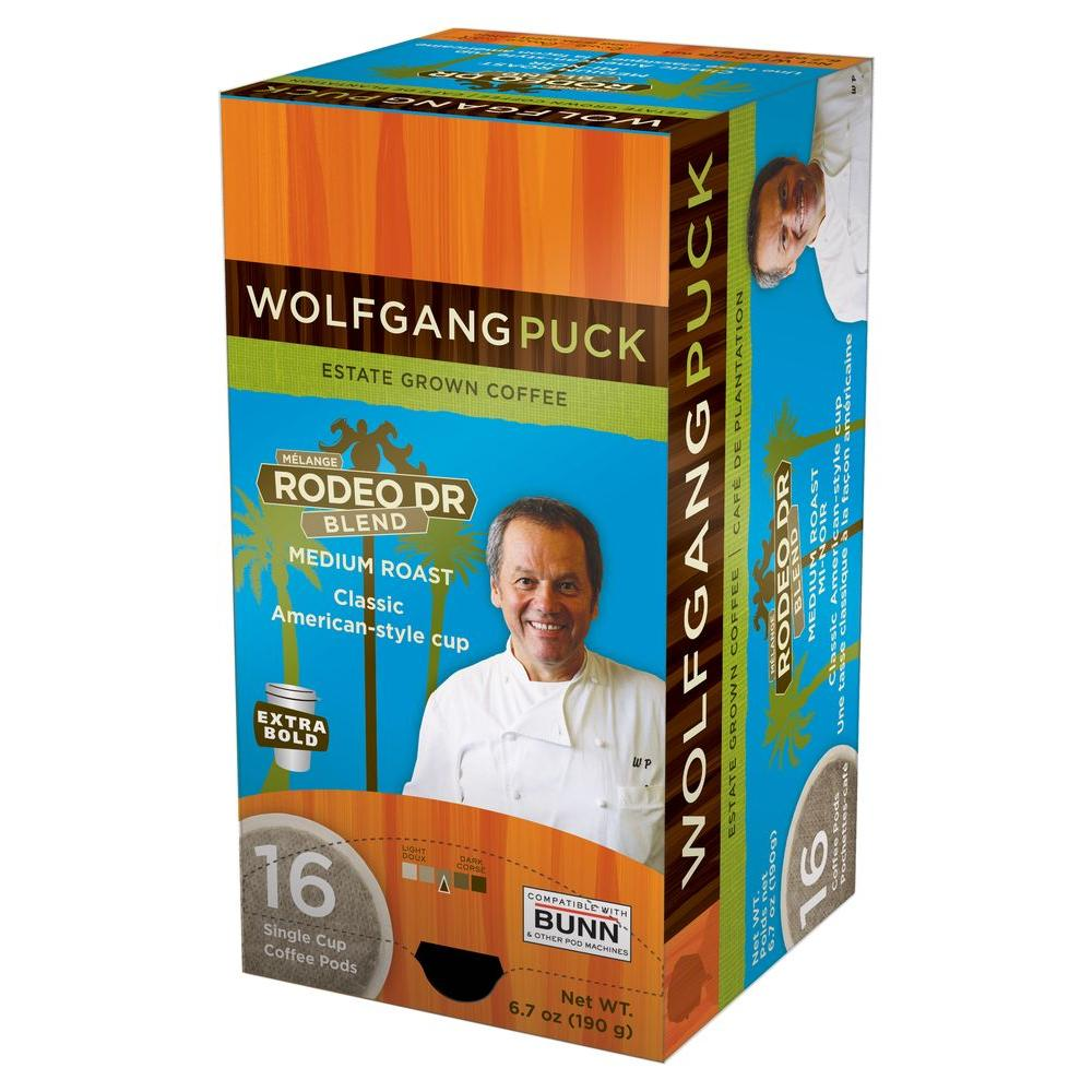 Wolfgang Puck Rodeo Dr. Blend Single Cup Coffee Pods, 16-count-DISCONTINUED