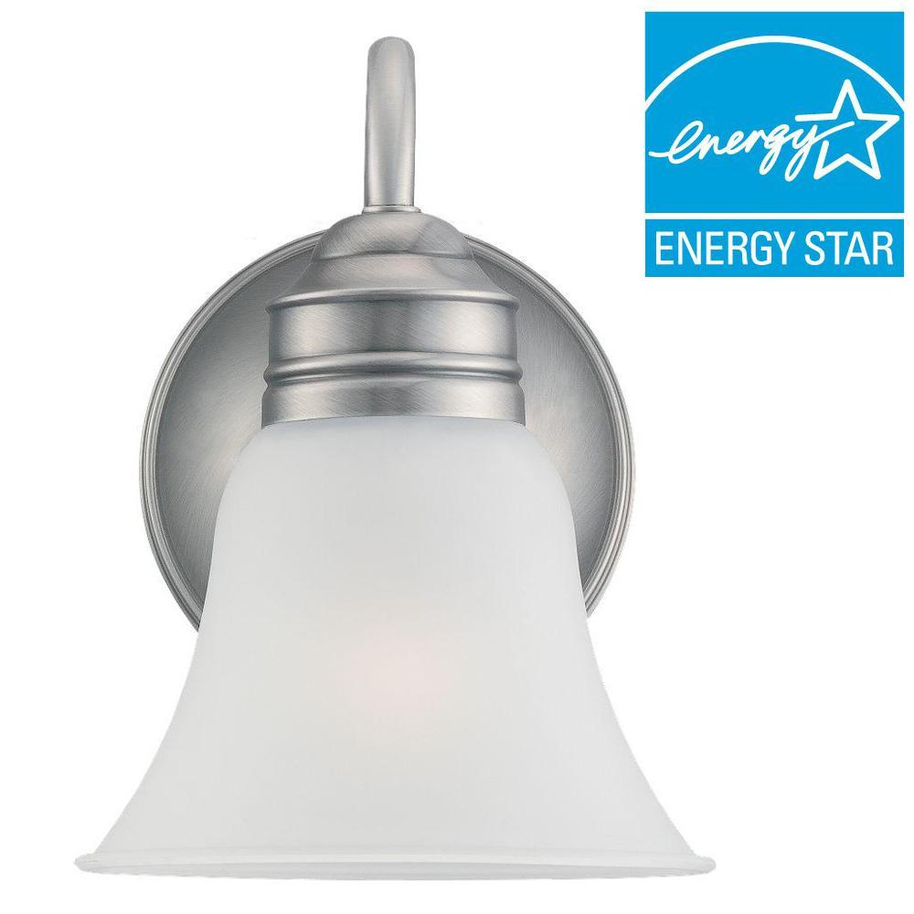 Sea Gull Lighting Gladstone 1-Light Antique Brushed Nickel Sconce