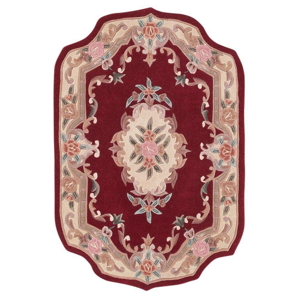 Home Decorators Collection Imperial Wine 8 ft. x 11 ft. Shape Area Rug