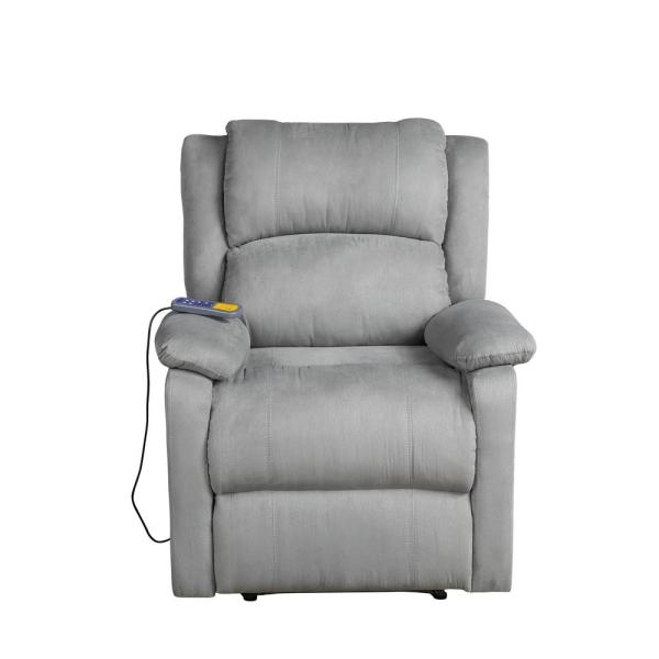 Gray Electric Full Body Zero Gravity Massage Chair Recliner with Heat Stretched Foot Rest