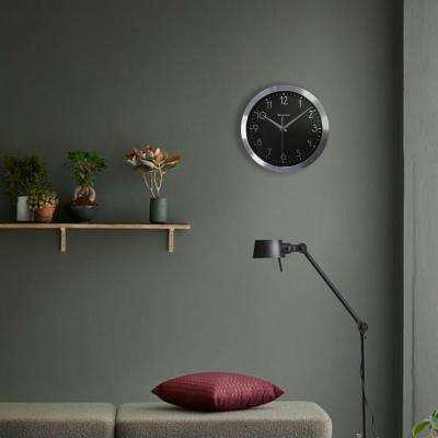 9 in. Metal Frame Analog Wall Clock