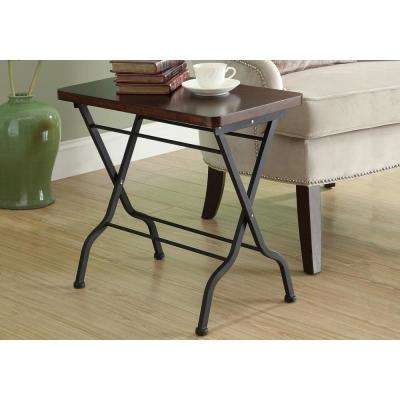 Cherry and Charcoal Black Folding Table