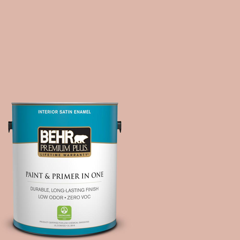 1-gal. #220E-3 Melted Ice Cream Zero VOC Satin Enamel Interior Paint