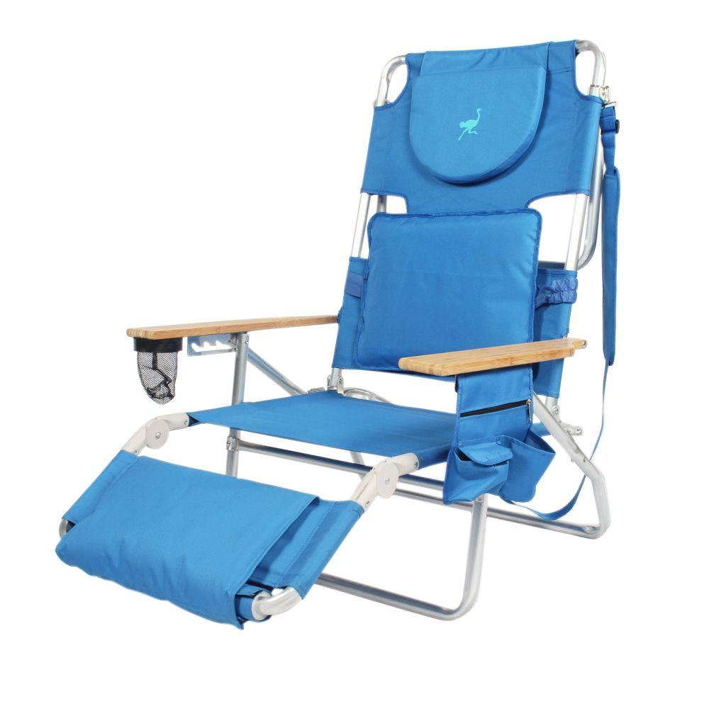 Ostrich Solid Blue Metal Deluxe Padded 3-N-1 Outdoor ...