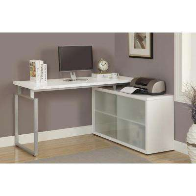Hollow-Core 2-in-1 Piece White Office Suite