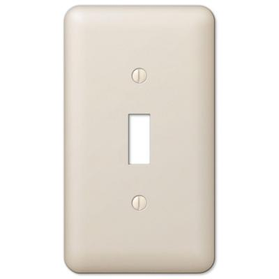 Declan 1 Gang Toggle Steel Wall Plate - Almond