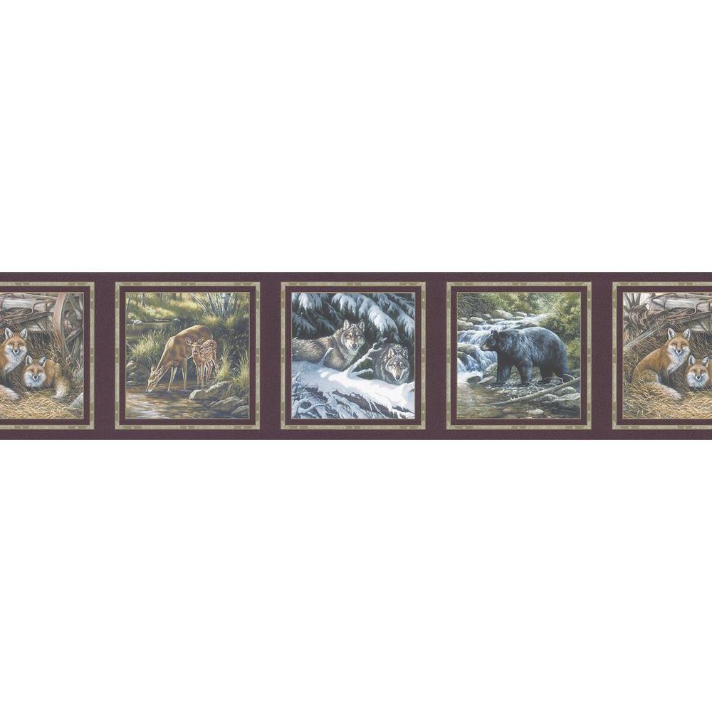 Brewster 6.75 in. H x 12 in. W Animal Scene Border Sample