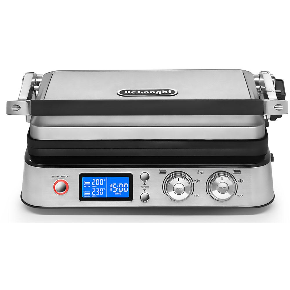 DeLonghi DeLonghi Livenza All-Day 130 sq. in. Stainless Steel Non-Stick Indoor Grill, Silver