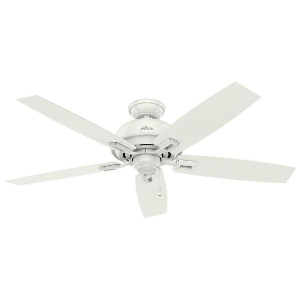 Donegan 52 in. Indoor/Outdoor Fresh White Ceiling Fan Bundled with Handheld Remote Control