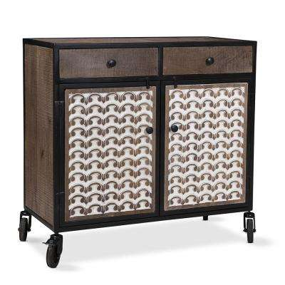 Garrett Accent Cabinet with Casters