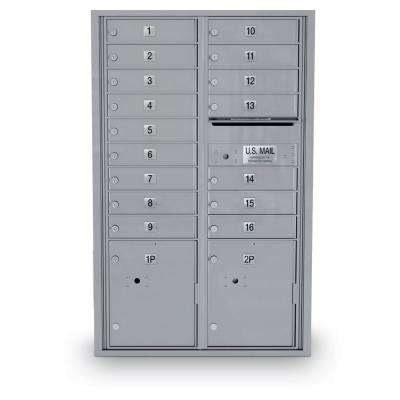 16 Door Standard 4C Mailbox with 2 Parcel Lockers