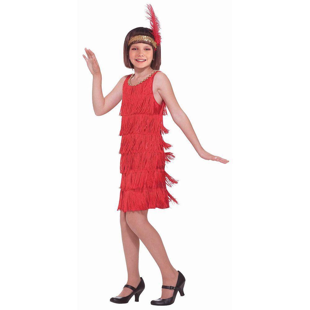 Girls Red Flapper Costume