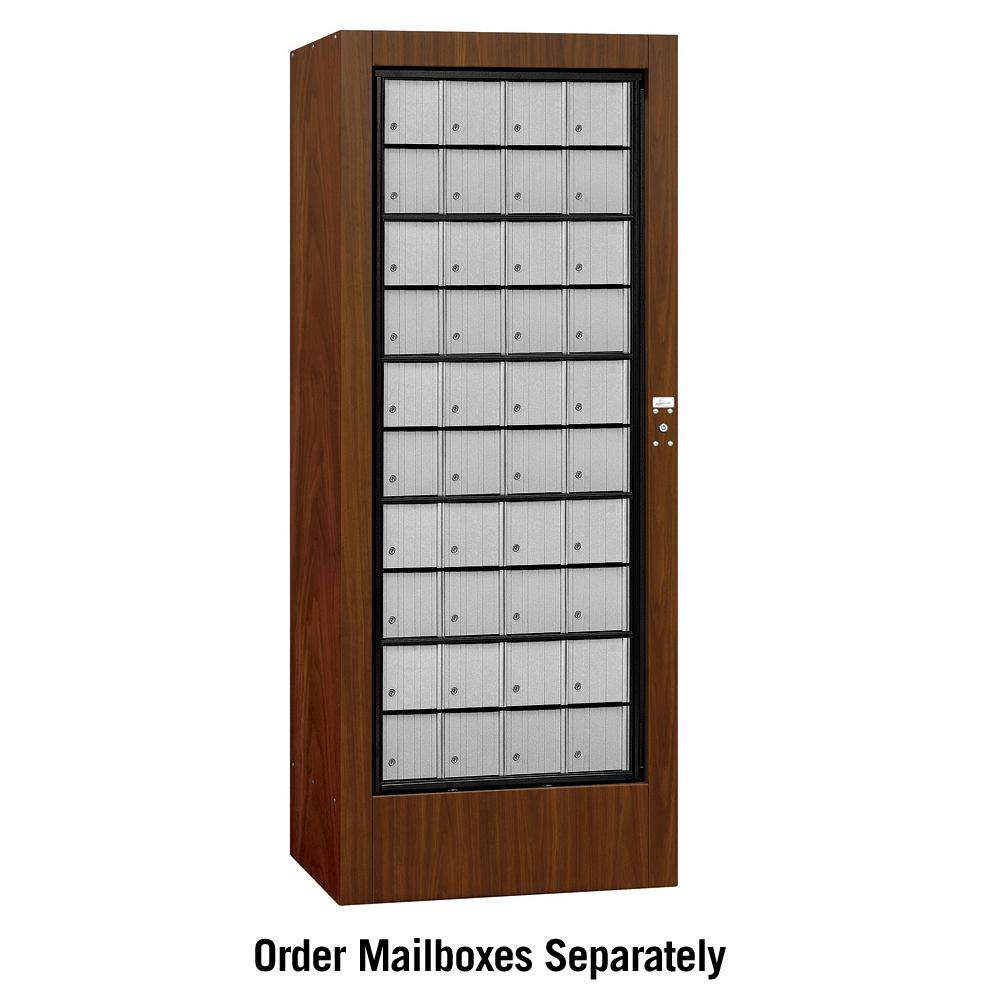 3100 Series Private Aluminum Style Rotary Mail Center in Walnut
