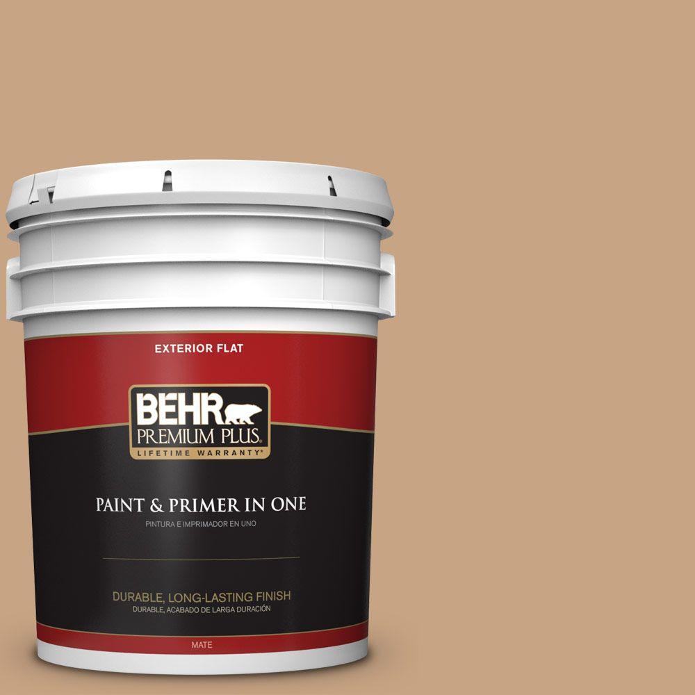BEHR Premium Plus 5-gal. #S260-4 Pelican Tan Flat Exterior Paint