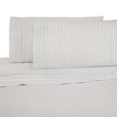 Brushed Organic 4-Piece Nori California King Sheet Set