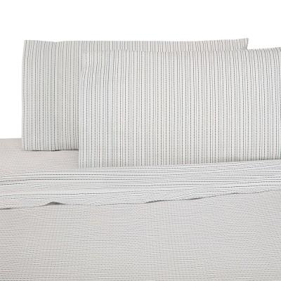 Brushed Organic Cotton 4-Piece Nori Solid 300 Thread Count California King Sheet Set