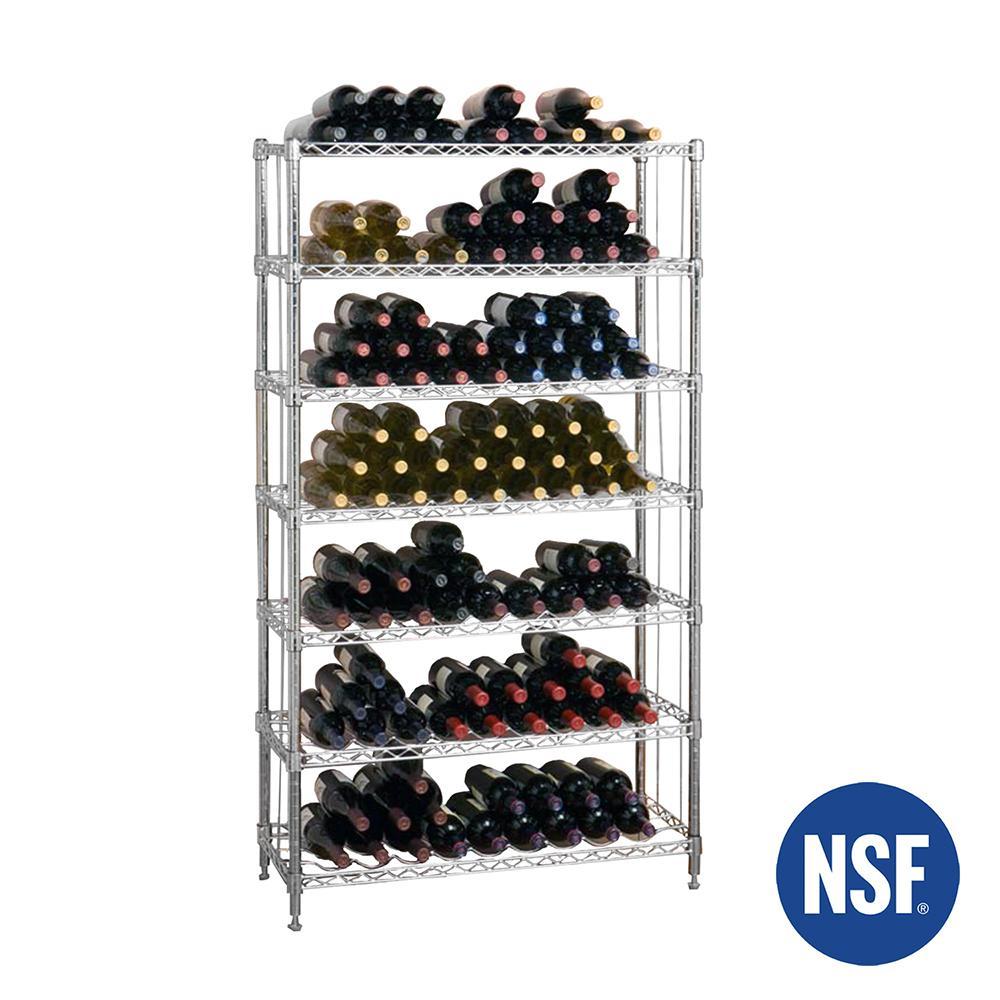 168-Bottle 7-Shelf Wine Rack, NSF Listed