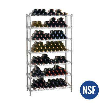 168-Bottle 7-Shelf Wine Rack, NSF Listed