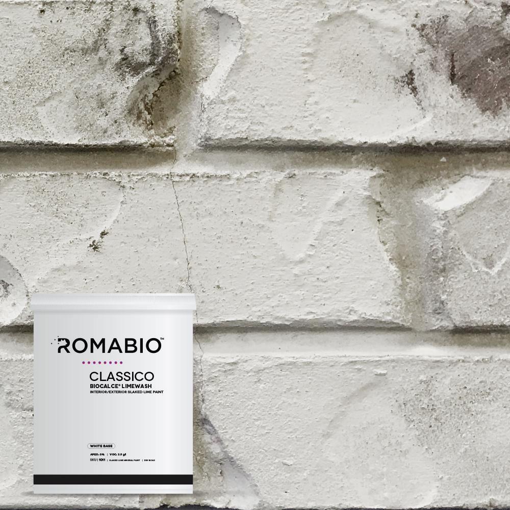 1-qt. Cristallo White Limewash Interior/Exterior Paint