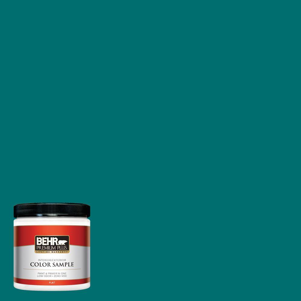 BEHR Premium Plus 8 oz. #P460-7 Caribbean Current Interior/Exterior Paint Sample