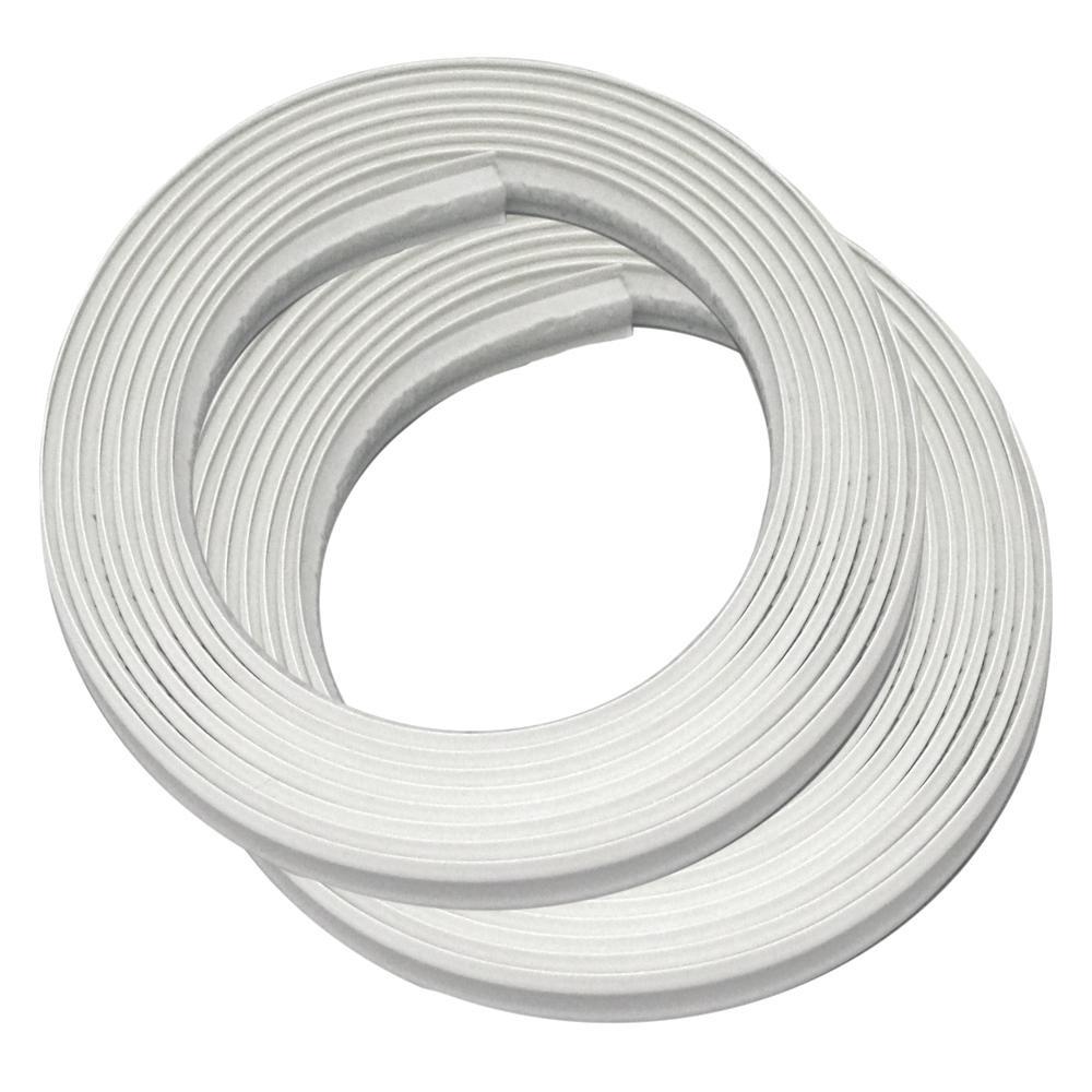 InstaTrim 1/2 in. x 3/8 in. x 120 in. PVC Inside Corner Self-adhesive Flexible Trim Moulding (2-Pack)