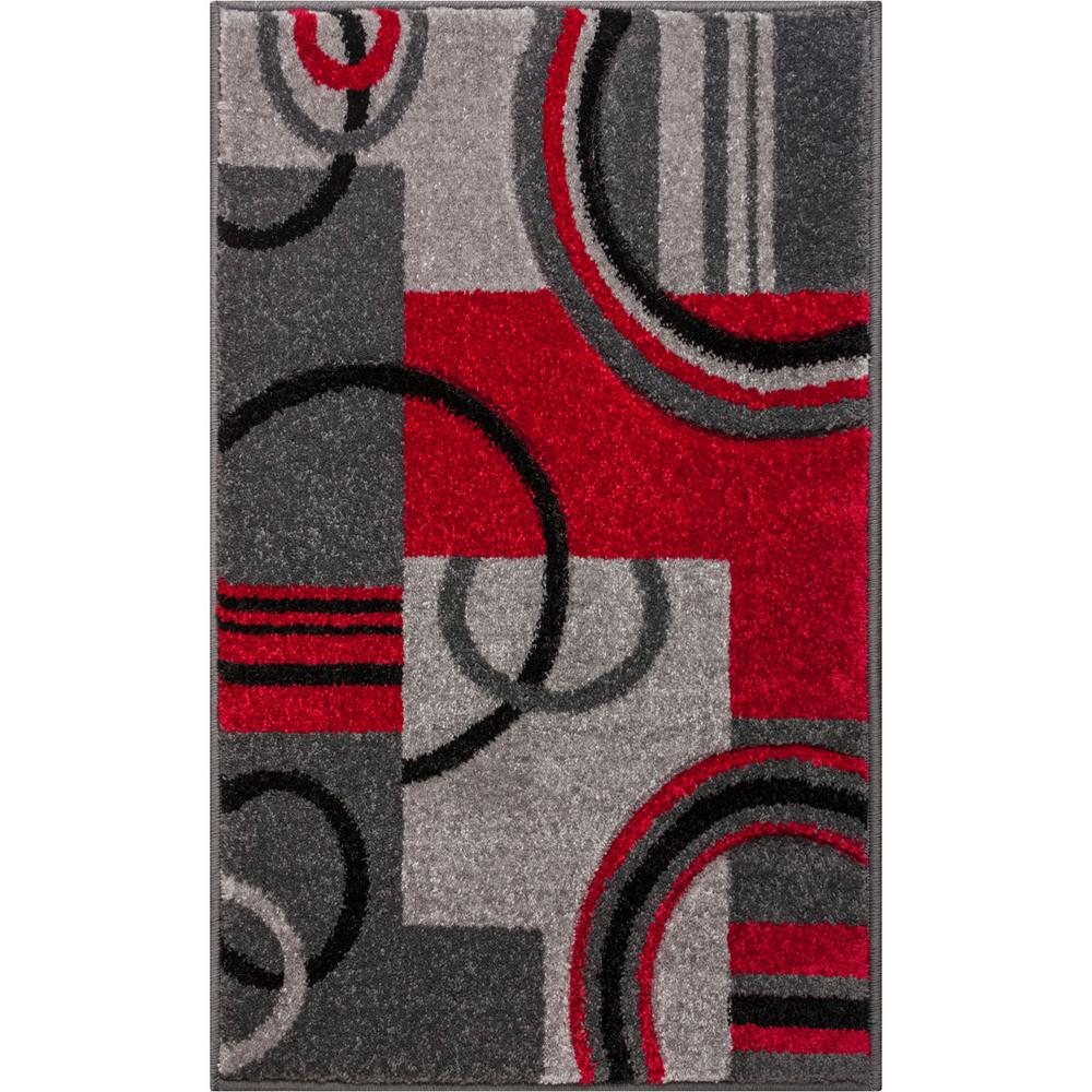 Well Woven Ruby Galaxy Waves 2 Ft X 3 Ft Modern Geometric Abstract