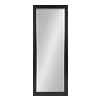 Large Rectangle Black Beveled Glass Full-Length Classic Mirror (51.5 in. H x 19.5 in. W)
