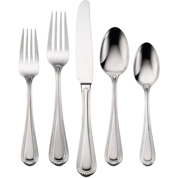 Oneida Countess 45 Piece Silver 18 0 Stainless Steel Flatware Set Service For 8 B014045a The Home Depot