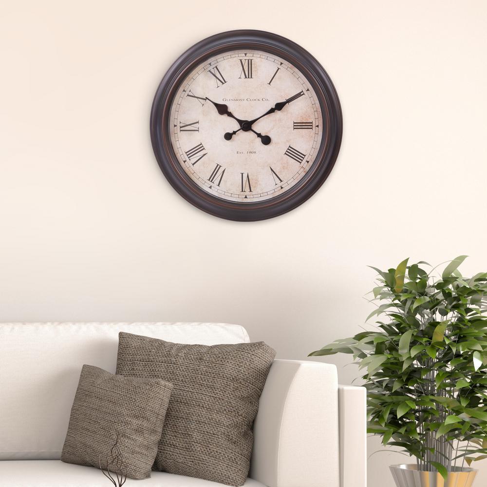 Pinnacle Antique Bronze Wall Clock