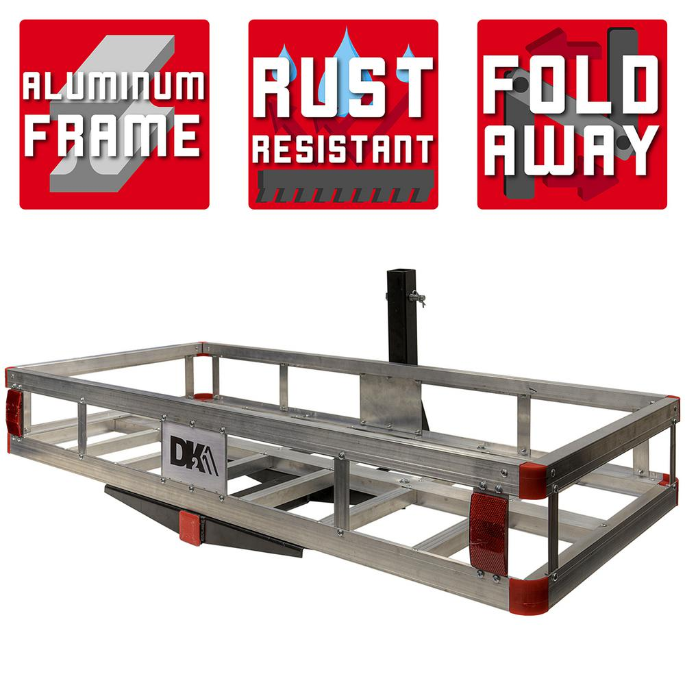 Detail K2 500 lb. Capacity 50 inch x 24 inch Aluminum Hitch Cargo Carrier for 2 inch Receiver